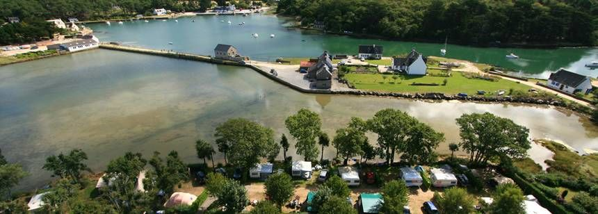 Aerial view of Camping Le Lac, Carnac, South Brittany
