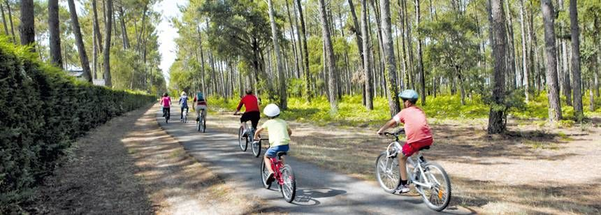 Great cycle paths near  le Vieux Port campsite, Messanges, France