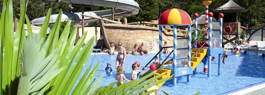 The young children's fun pool at le Vieux Port campsite, Messanges, France