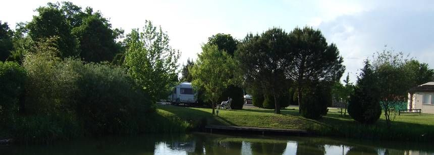 Campsite pitch at Les Bois de Bardelet