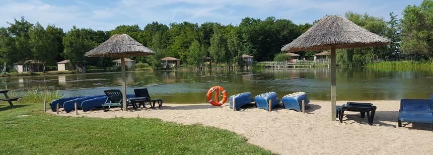 The pretty lake at Camping Les Bois du Bardelet, Gien, France