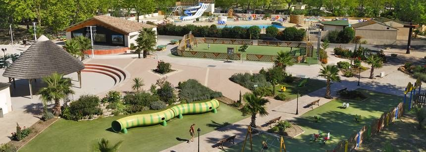 The great sport and play area at La Yole Wine Resort, Valras-Plage, France