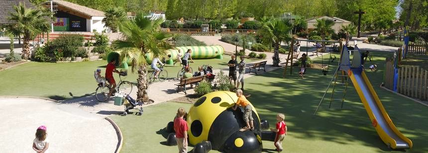 Lots of fun for children at La Yole Wine Resort, Valras-Plage, France