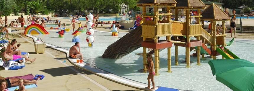 Young children will love the paddling pool at La Yole Wine Resort, Valras-Plage, France
