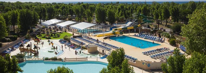 The extensive aquapark at La Yole Wine Resort, Valras-Plage, near Vias
