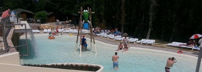The paddling pool at Camping Orlando in Chianti, Tuscany, Italy