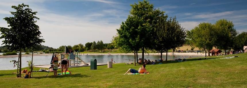 Relaxing by the lake at Le Domaine de Louvarel, Burgundy, France