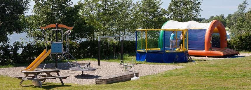 The children's play area at Le Domaine de Louvarel, Burgundy, France