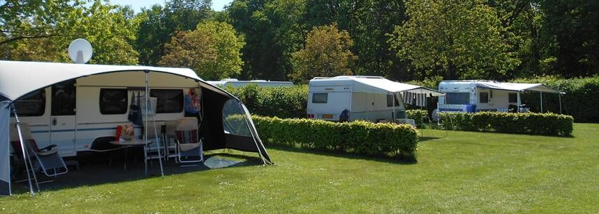 The spacious pitches at Camping Petrushoeve, Beesel, The Netherlands