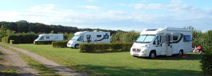 Lots of room on the pitches at Camping Petrushoeve, Beesel, The Netherlands