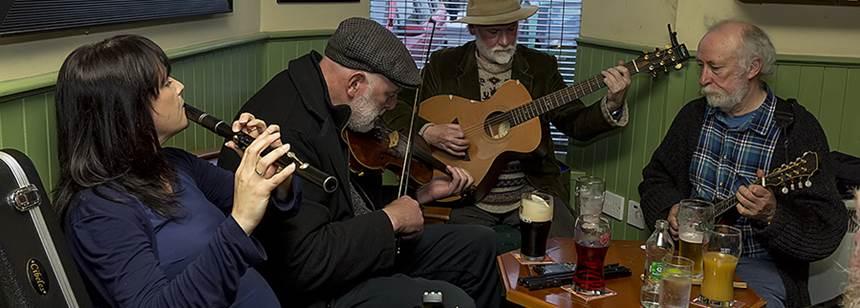 Traditional Irish music group in Westport