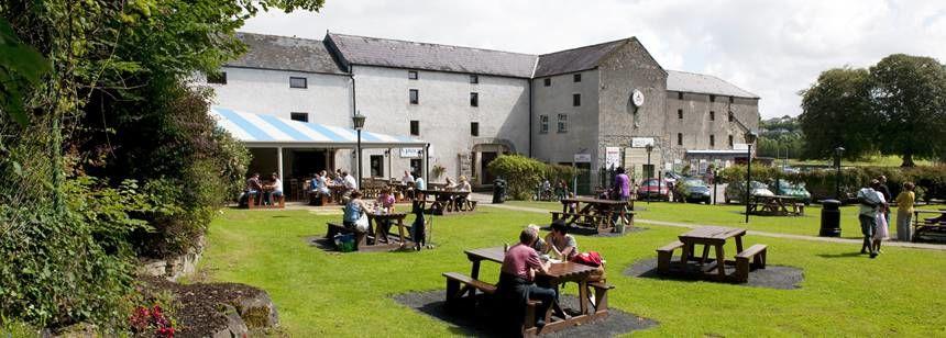 The outdoor seating area t Westport House, Westport, Ireland.