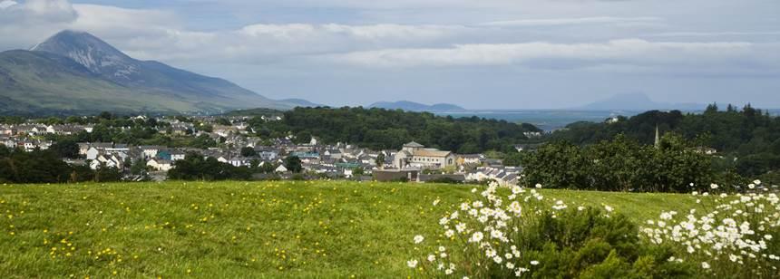 Croagh Patrick, Ireland's pilgrimage mountain, near Westport