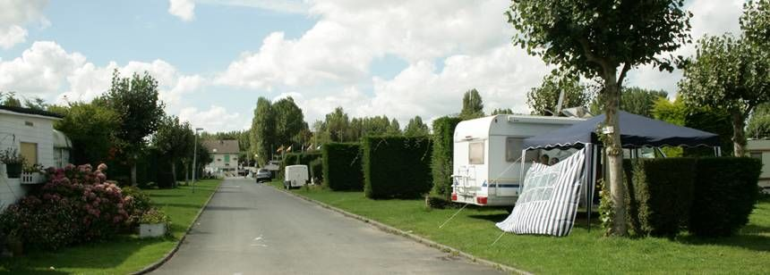 Grass pitches at Camping Riva Bella, Ouistreham, France