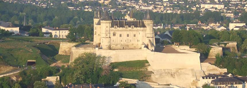 The Chateau of Saumur near Camping L'Île d'Offard, Saumur, France
