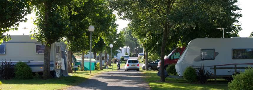 Typical pitches at Camping Les Ecureuils, La Bernerie en Retz, France