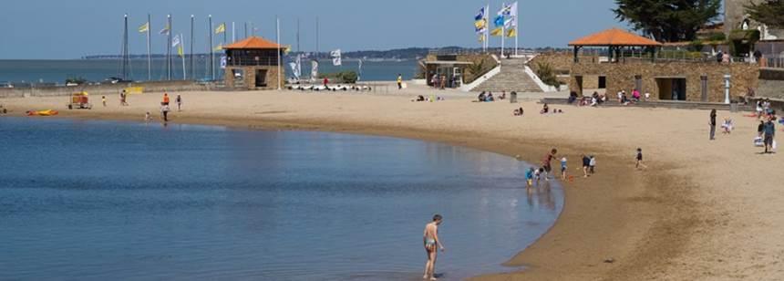 Sandy beach near Camping Les Ecureuils, La Bernerie en Retz, France