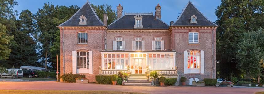 The château at Camping Domaine de Drancourt, Saint Valery-sur-Somme, Picardy