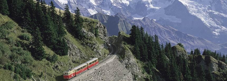 Spectacular Alpine scenery in Switzerland