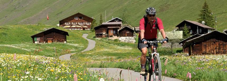 Cycling near Camping Jungfrau, Lauterbrunnen, Switzerland