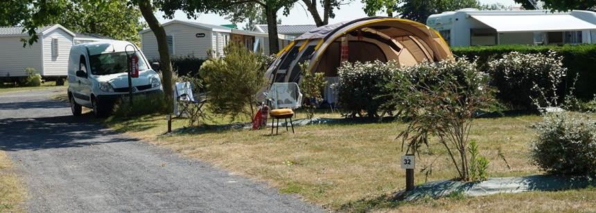 Pitches at campsite Domaine de Beaulieu near St.-Gilles-Croix-de-Vie, Vendée, France