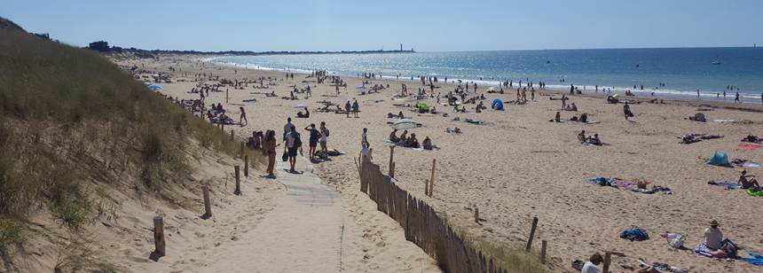 Beautiful beaches on the Atlantic island of Ile de Ré, France