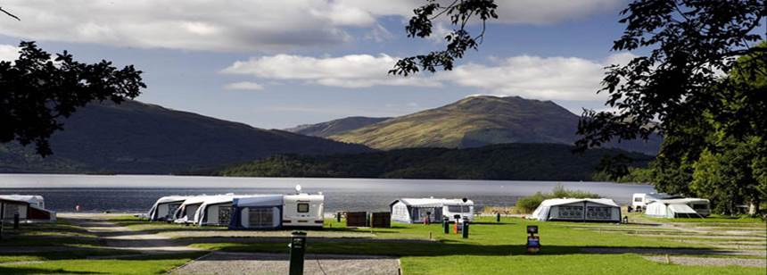 Children's Play Area Cashel Camp Site Loch Lomond, Dunbartonshire