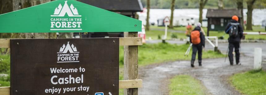 Cashel Campsite entrance,Loch Lomond