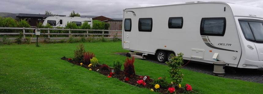Spacious pitches at Meadow View