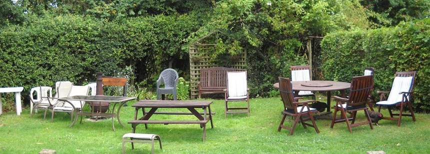 Picnic area at Old Manor Farm