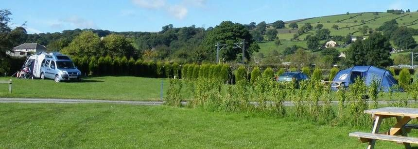 Countryside views at Riverside Caravan Site