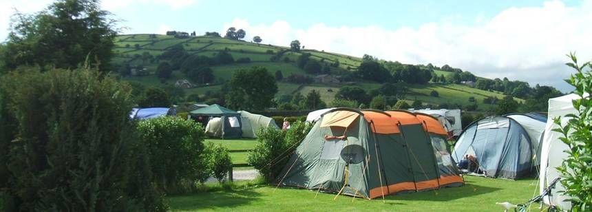 Tents at Riverside Caravan Site