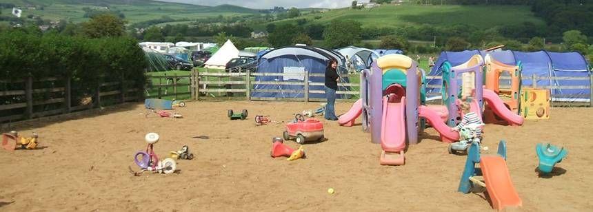 Play area at Riverside Caravan Site