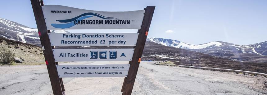 Cairngorm Mountain visitor sign