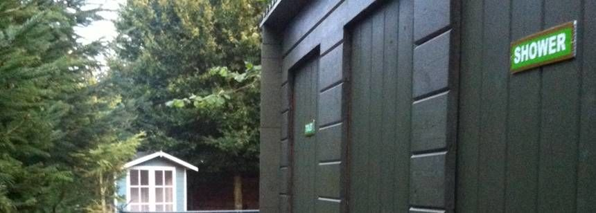 Onsite facilities at Aberford campsite.