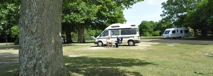 Campervan Pitches Ashurst Camp Site New Forest