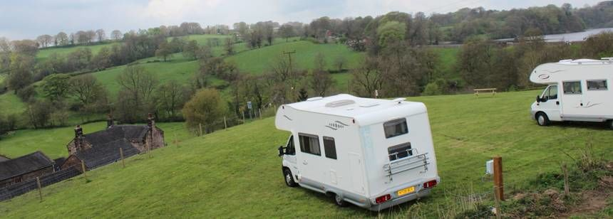Motorhomes overlooking lovely views