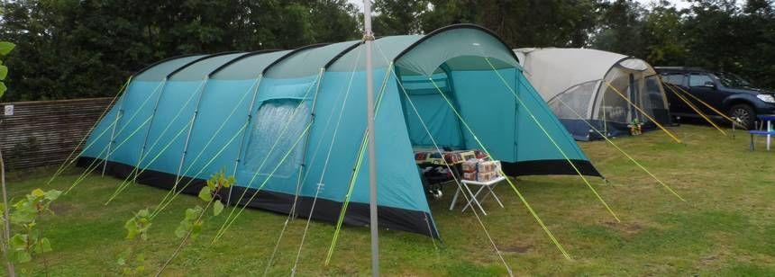 Tent camping at Riverside Gardens
