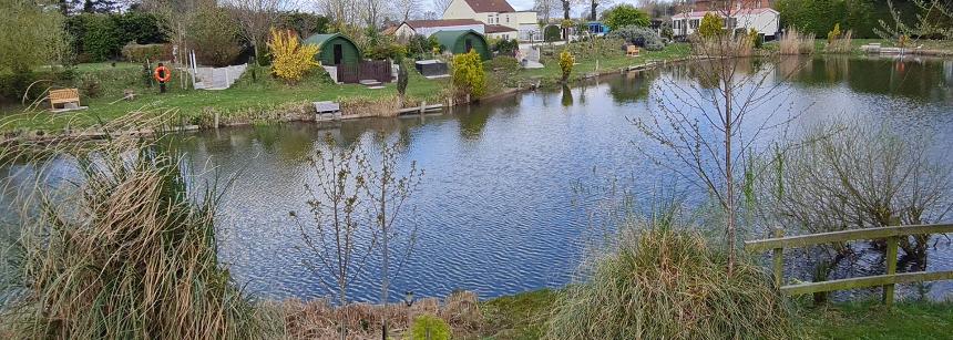The lake at Green Haven Holidays
