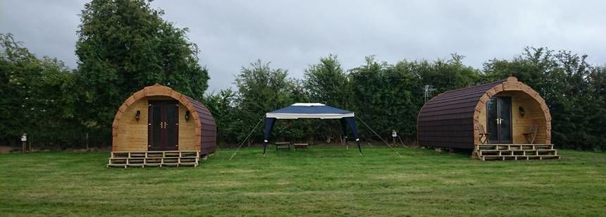 Camping pods on site