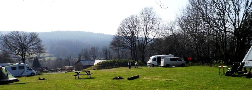 Tents and caravans at Highlands