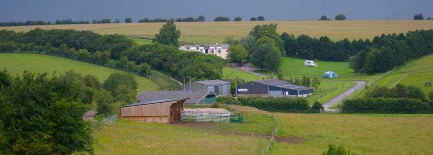 Landscape view of Farncombe Farm