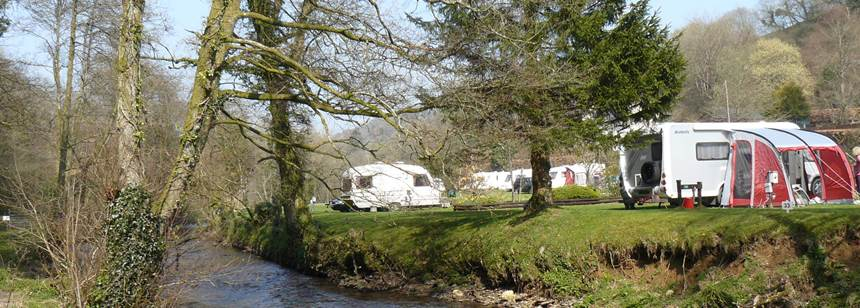 Idyllic setting at Exe Valley Caravan Site