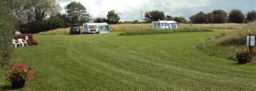 Two caravans at Withy Water Caravan & Campsite