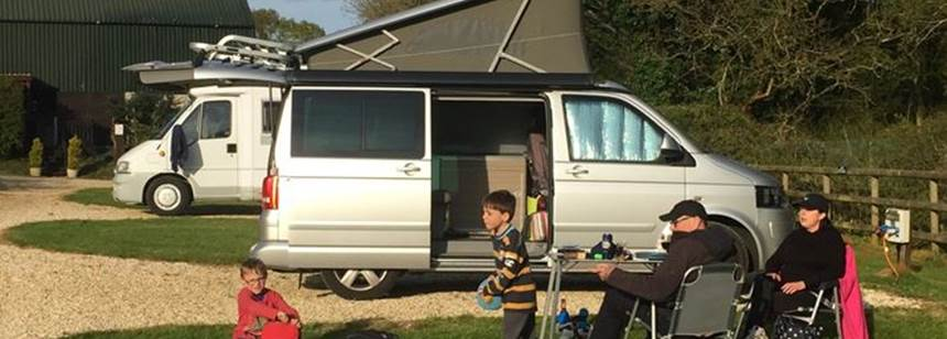 Camping at Rushcroft Farm