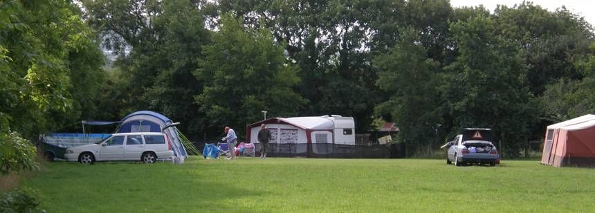 Camping area at Brentons