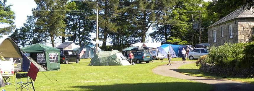 Tents on site