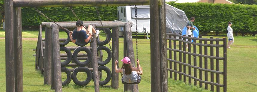 Play area at adgestone campsite