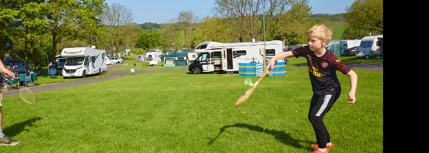 View of Bakewell campsite