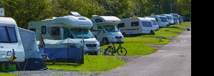Caravan Pitches Bakewell Camp Site Derbyshire